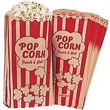 Popcorntüten im Vintage-Retro-Stil, öl-/fettabweisend beschichtet, verhindert Austreten von Popcorn-Salz, -gewürz, -Kernen und -öl, für jede Popcorn-Maschine