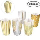 MVPOWER 50 Stück Popcorn Tüten Popcorn Box Karton, Pappe Candy Container Partytüten Behälter für Party Geburtstag Hochzeit Geschenk - 11.5x7.5x7.2 cm
