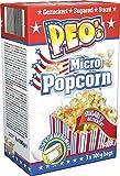 Peo's Micro Popcorn, Gezuckertes Mikrowellenpopcorn im 12er Vorteilspack, 12 Schachteln mit 3 x 100 g Inhalt