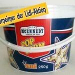 Popcorn im Plastikeimer