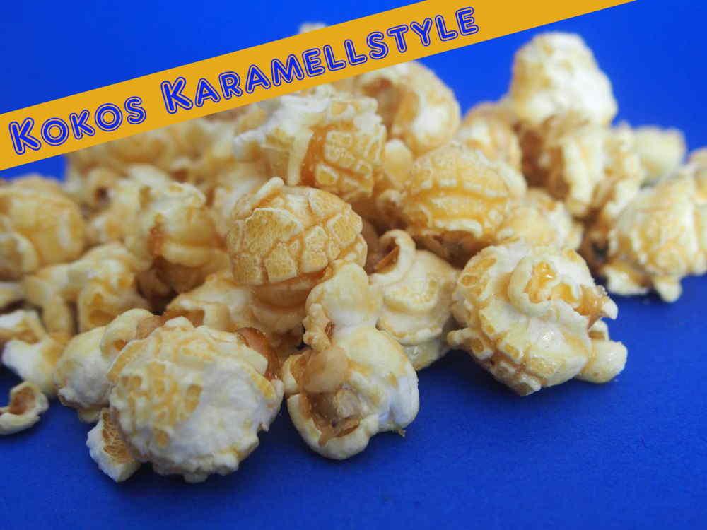 kokos karamell popcorn